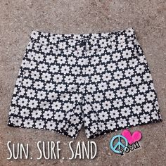 Ann Taylor LOFT  Flower Power Chino Shorts  Ann Taylor LOFT ▪️ Size 4 ▪️ Black w/ White Flower Power Pattern Chino Shorts in Perfect Condition  NWOT  ☮ Priced Accordingly ☮  NO TRADE FIRM unless BUNDLED for Further Discount LOFT Shorts Bermudas