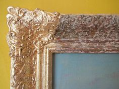picture frame restoration with Dutch Metal (imitation gold leaf)