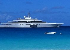 M/Y Eclipse, shown here moored off of Meads Bay, is the world's largest superyacht. Owned by Russsian billiionair Roman Abramovich, who visits Anguilla regularly, it is 163.5 metres (536 ft) long. Price tag? US$500,000,000 (conservative estimate). It comes complete with 2 helicopter pads, 24 guest cabins, 2 swimming pools, and a disco hall. Oh yes, it has a mini-submarine and a missile defence system. One more detail... Abramovich has 5 motor yachts, excluding a couple he has given away!