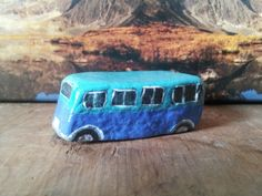 VW Bus Rock / Blue Sky & Water Natural Stone by Madcatmadness