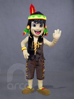 Venta de #Botargas Publicitarias y de Marca. marca Pronto personaje de choco kiwi. #Apache personaje emblematico con detalles realistas en su vestuario, grna movilidad y dinamismo