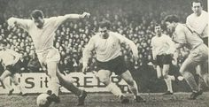 Torquay Utd 3 Tottenham 3 in Jan 1965 at Plainmoor. Colin Bettany and Alan Mullery in action in the FA Cup 3rd Round.