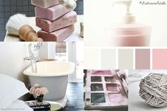 Bathroom Palette #1: Grey & Pink - A column exclusively dedicated to inspiring bathrooms and colours. In most cases, when decorating a bathroom we only choose its style or mood but don't consider how important colour is. Or how decisive bathroom linen's colour could be, combined with all other details.