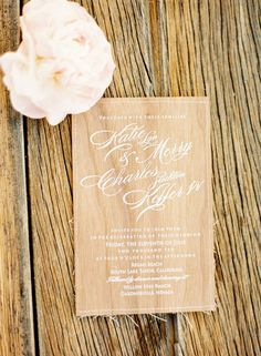invitation.  perfect blend of elegance and whimsy