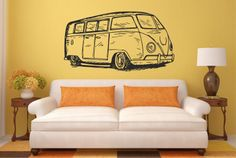 Muursticker Volkswagen Transporter bus I