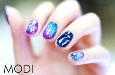 Korean nail glass trend                                                       …