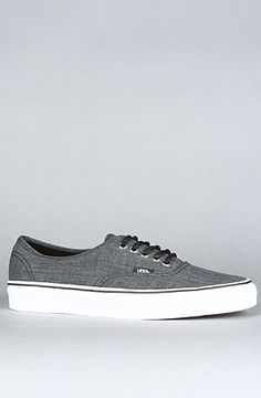 Brand: Vans. Title: The Authentic Sneaker in Grindle Black. Price: $60. Purchase it here: http://www.karmaloop.com/product/The-Authentic-Sneaker-in-Grindle-Black/208233