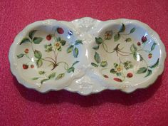 Old Foley James Kent Strawberry Condiment Bowl