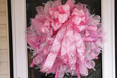 Deco Mesh Baby Wreath by WreathsEtc on Etsy, $115.00