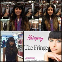 The Fringe. Clip In Fringe, Hairspray, Beauty Shop, Fringes, Cut And Color, Hair Extensions, Eyelashes, That Look, Hair Beauty