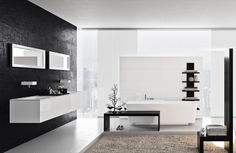 Great bathroom design with black and white color... | Visit : roohome.com    #bath #bathroom #decoration #amazing #awesome #Gorgeous #great #fabulous #Unique