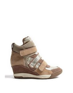 ASOS Fashion Finder | Platine and Clay Alex Bis Suede Wedge Trainers by Ash