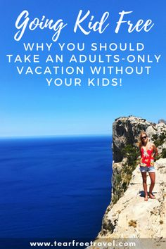 "Thinking of taking an adults-only​ vacation without kids? We love to travel WITH our kids (obviously, since I started this blog!) BUT traveling WITHOUT our kids or ""kid-free vacations"" as we call them, is something that we try to do at least once a year. Click through to find out why adult only vacations are so important and also a list of suggestions for the ultimate adults only getaway! #adultsonlyvacation #kidfree #kidfreevacation #vacationwithoutkids #couplesvacation"