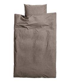 graue Baumwollbettwäsche von H&M