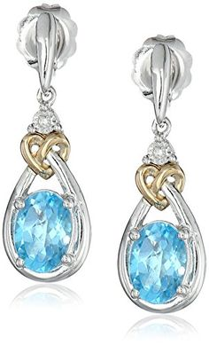 Love Knot Sterling Silver and 14k Yellow Gold Blue Topaz with Diamond-Accent Earrings Amazon Curated Collection http://www.amazon.com/dp/B004GEB9NS/ref=cm_sw_r_pi_dp_t9Zzub0C3RX3J