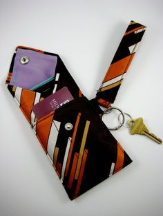 Make a clutch from an old tie with great design.