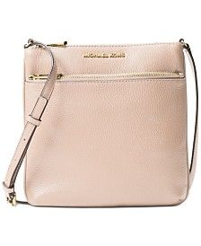 Authentic, brand new with price tag and care card Cow Leather -Gold-Tone Hardware X X -Adjustable Drop: -Exterior: One Zip Pocket -Interior: One Open Pocket -Lining: Polyester Color: Soft Pink Come from smoke free and pet-free home Large Crossbody Bags, Michael Kors Crossbody Bag, Leather Crossbody, Cow Leather, Pebbled Leather, Small Sized Bags, Stitching Leather, Mens Gift Sets, Baby Clothes Shops