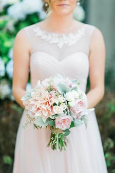 Check out all the flowers from this wedding. A nice mix of flowers and greens in the bouquets! Flora Organica Floral Design & Kathleen Amelia Photographer, Eureka, California Wedding