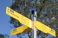 New multi-language pedestrian wayfinding signage for Brisbane city centre.