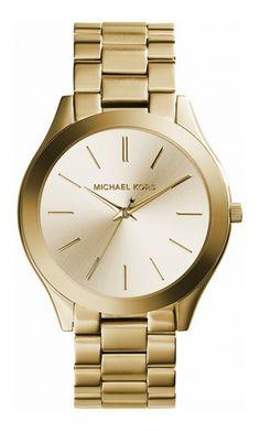 fa9524b33607 Michael Kors SLIM RUNWAY MK3179 Damenuhr - Armbanduhren Center Michael Kors  Damenuhr Gold, Damenuhren Gold
