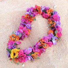 Bougainvillea Hawaiian Flower Lei   #hairclips #flowerinhair #hairaccessories #flowerclips #hairblossoms #hawaiianlei #flowerlei #flowergarland #leidinhawaii