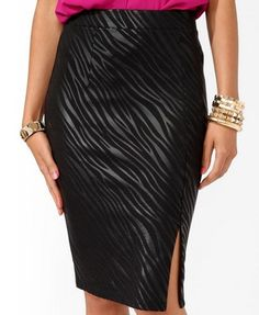 Zebra Print pencil skirt - dress in style and increase awareness about EDS / Ehlers-Danlos Syndrome