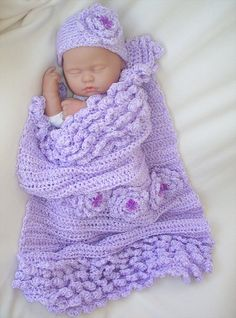 Blooming Beauty baby girl blanket by ParesCreations on Etsy, $42.00