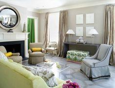 Skirted furniture + painted floors | Sara Tuttle Interiors