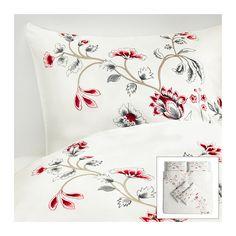 RÖDBINKA Quilt cover and 4 pillowcases - 240x220/50x80 cm  - IKEA