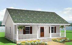 Cottage Style House Plans - 864 Square Foot Home , 1 Story, 2 Bedroom and 1 Bath, 0 Garage Stalls by Monster House Plans - Plan Cottage Style House Plans, Tiny House Plans, House Floor Plans, Small House Plans Under 1000 Sq Ft, Small Home Plans, 1 Bedroom House Plans, Guest House Plans, Simple House Plans, Rustic Cottage