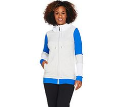cee bee CHERYL BURKE Color-Block Hooded French Terry Jacket