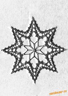 Bobbin Lace Patterns, Crochet Patterns, Crochet Stars, Lace Heart, Lace Jewelry, Lace Doilies, Lace Making, Textiles, Filet Crochet