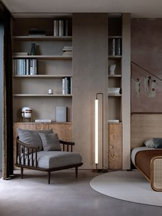 16 ideas for living room shelves unit interior design Classic Interior, Modern Interior, Home Interior Design, Interior Architecture, Bedroom Classic, Interior Office, Contemporary Interior Design, Design Hall, Küchen Design