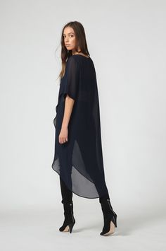 rise tabard / ink by Moochi. Everyday luxury, from off-duty essentials to coveted designer pieces. Buy Now! Off Duty, Winter Wardrobe, Fitness Models, Aw 2017, Ink, Coat, How To Wear, Dresses, Style