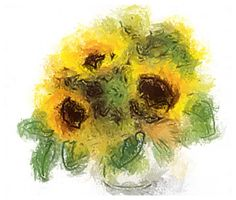 Sunflower picture captured via #AurynCam, effect: watercolor on #iPhone