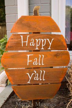 Fence Board Pumpkins #fall - Marty's Musings