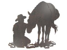 Cowboy & Horse Silhouette Wall Decoration