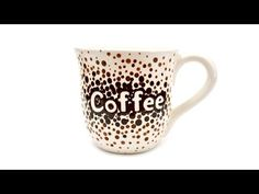 How to Paint Pottery: Ombre Dots Coffee Mug - YouTube