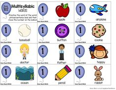 Multisyllabic Word Game for Speech Therapy Phonological Processes, Syllable, Word Games, Therapy Ideas, Speech Therapy, Language, Words, Speech Pathology, Puns