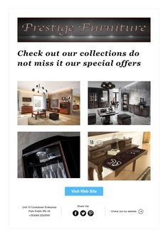 Check out our collections do not miss it our special offers The Prestige, Collections, The Unit, Check, Furniture, Home Furnishings, Arredamento