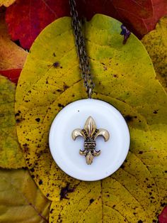 Orgonite Fleur De Lis Necklace  Free Shipping by FountainOfSpirit