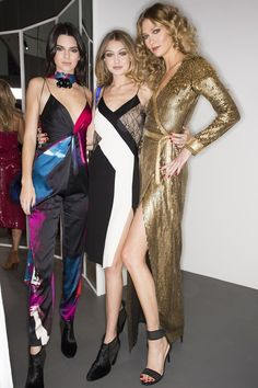 Kendall Jenner, Gigi Hadid et Karlie Kloss au défilé Diane von Furstenberg automne-hiver 2016-2017