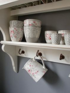 GreenGate Stoneware Sophie Vintage mixed with Naomi beige, Ziggy, Liva and Lace Warm Grey