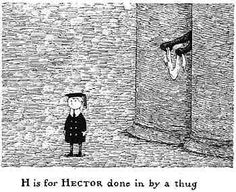 First of the gang to die. Edward Gorey. The smiths