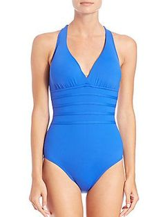 La Blanca Swim One-Piece Core Crossback Swimsuit - Cobalt