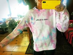 Madea DIY of this sweater from HideSeek's Recess Collection. Ice Dyeing, Positive Attitude, Long Weekend, Colours, Sweater, Day, Collection, Style, Swag
