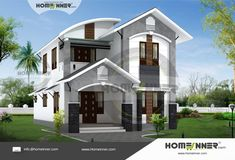 Searching for 23 Lakh 4 BHK 1625 sq ft Kochi Villa floor plan ? then here is 23 Lakh 4 BHK 1625 sq ft Kochi Villa house plan idea from the leading home design team. Indian Home Design, Kerala House Design, Duplex House Design, Modern House Design, Modern Houses, Low Budget House, Free House Plans, Pooja Room Design, Model House Plan