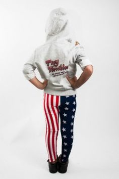 American Flag Kids Leggings Avalable at tinyterribles.com