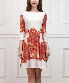 Look what I found on #zulily! White Cloud Shift Dress #zulilyfinds
