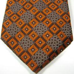 Rich Vintage Brown Orange Geometric Tie RARE Excellent #Unbranded #NeckTie #vintage #tie